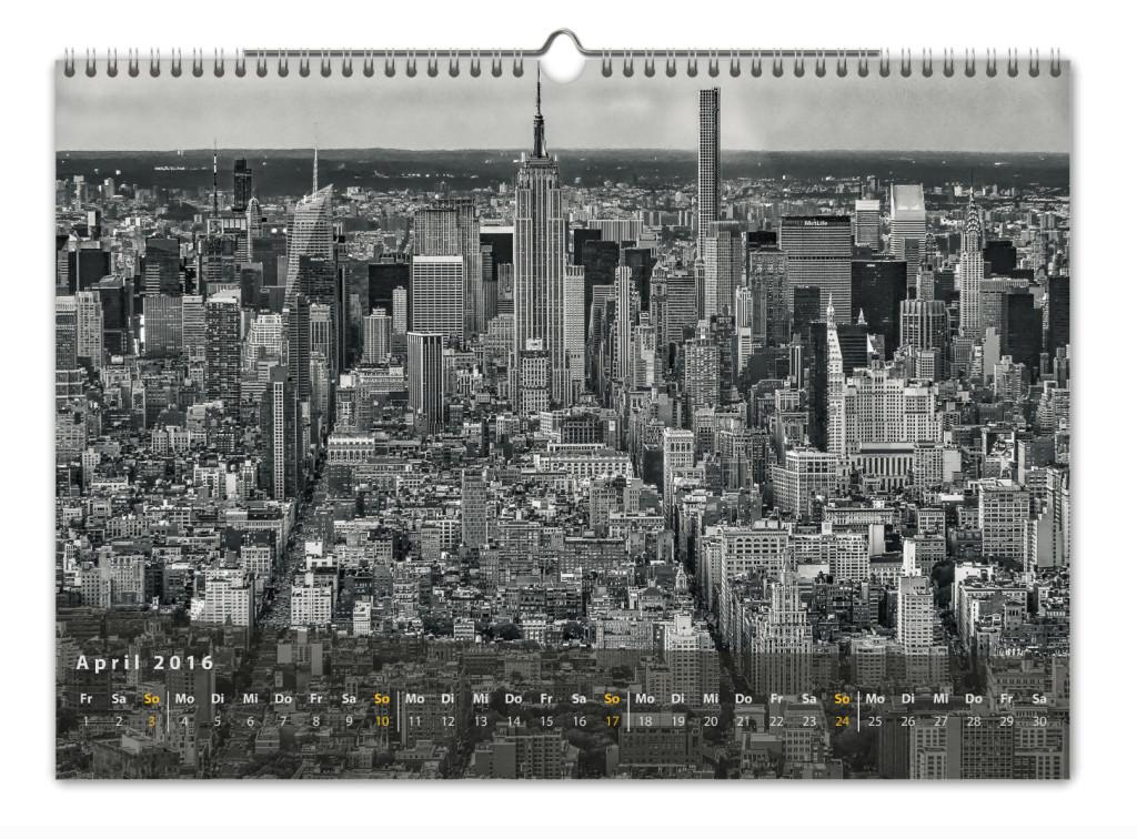 Kalender New York City 2016 Kunstdruck Blatt April