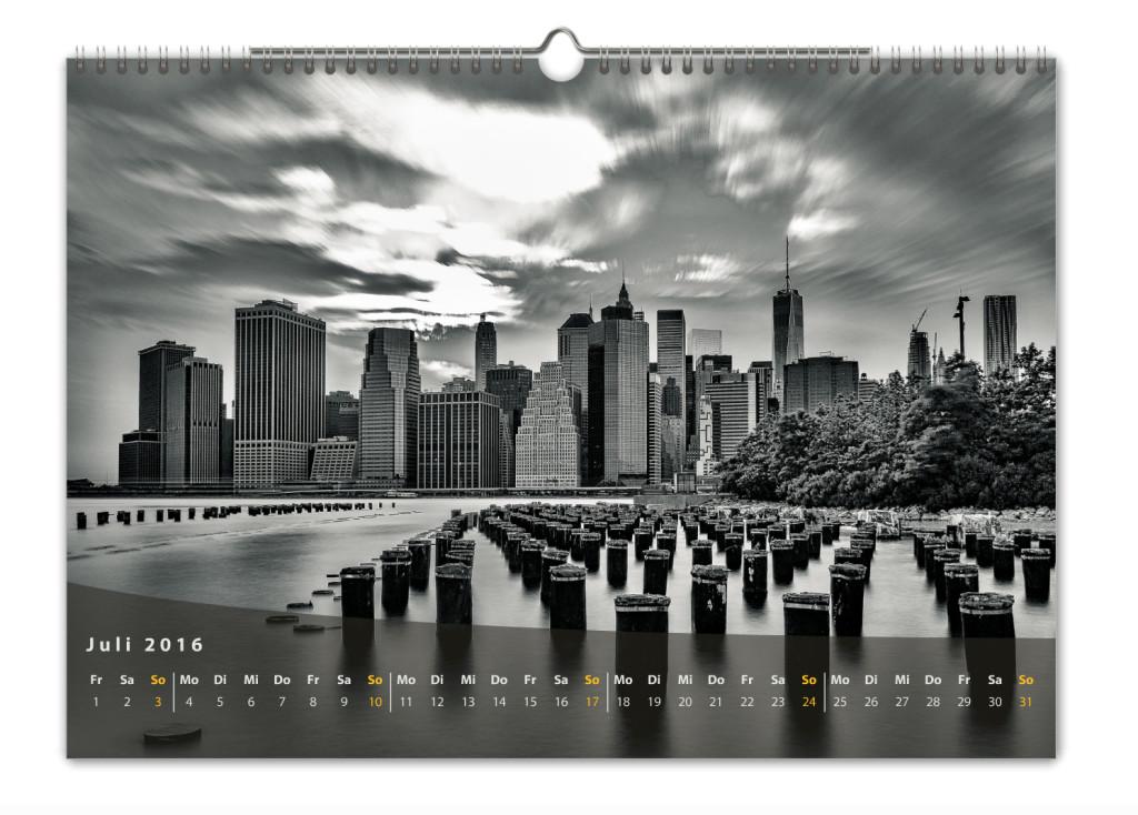 Kalender New York City 2016 Kunstdruck Blatt Juli