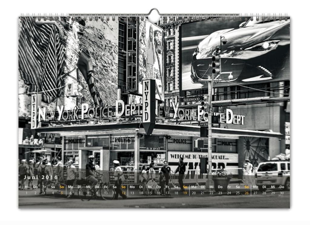 Kalender New York City 2016 Kunstdruck Blatt Juni