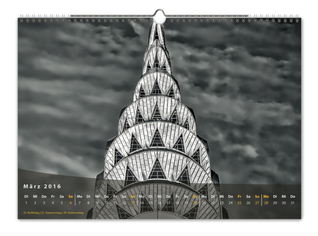 Kalender New York City 2016 Kunstdruck Blatt März