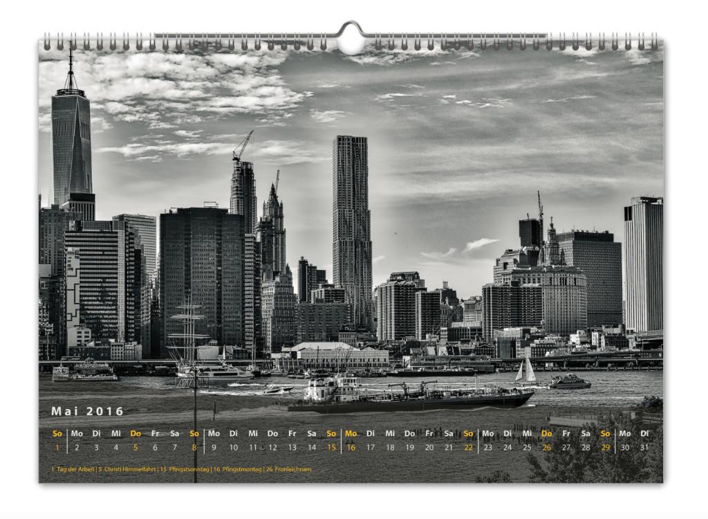 Kalender New York City 2016 Kunstdruck Blatt Mai