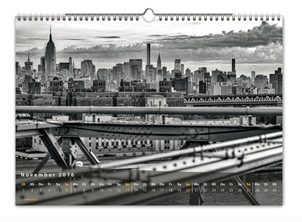 Kalender New York City 2016 Kunstdruck Blatt November