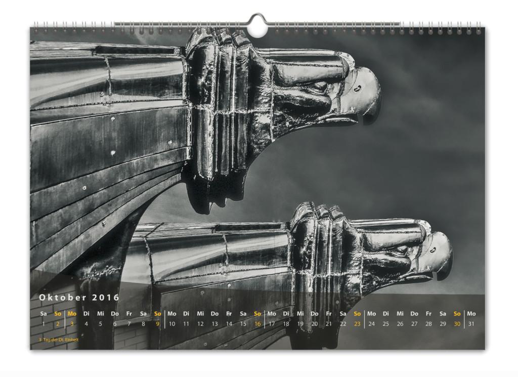 Kalender New York City 2016 Kunstdruck Blatt Oktober