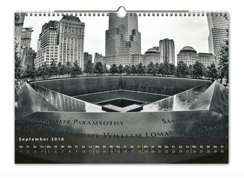Kalender New York City 2016 Kunstdruck Blatt September