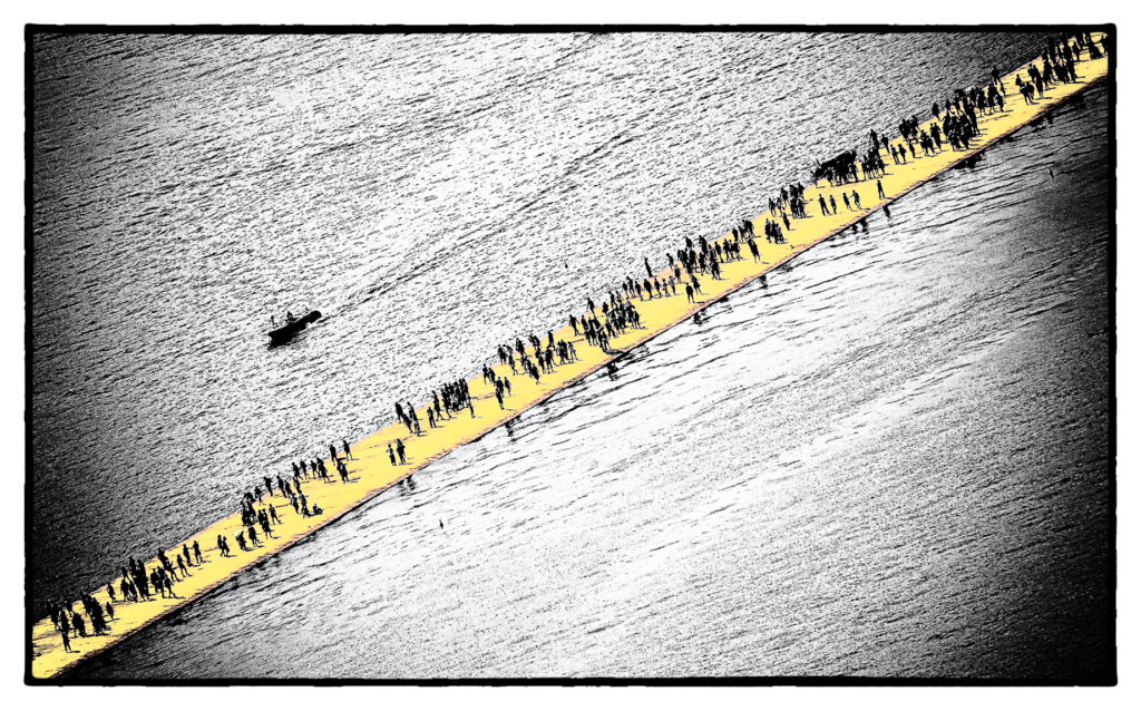 The Floating Piers - Film Noir Fine Art 13